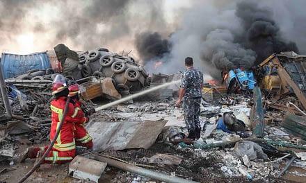 El Líbano se sacude por explosiones en la zona del Puerto de Beirut