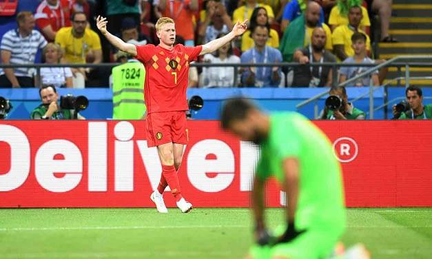 Bélgica sorprende a Brasil y lo elimina de Rusia 2018