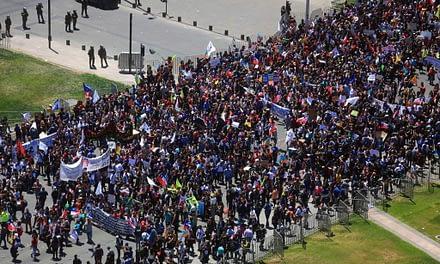 De Plaza Italia a La Moneda: el día 13 de las manifestaciones en medio del Paro General