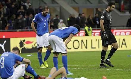 Histórico: Italia no pudo con Suecia y quedó fuera del Mundial luego de 60 años