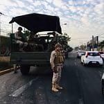 Santiago amanece con destrozos y militares en las calles