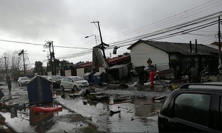 Tornado y trombas marinas en el Biobío dejan una mujer fallecida