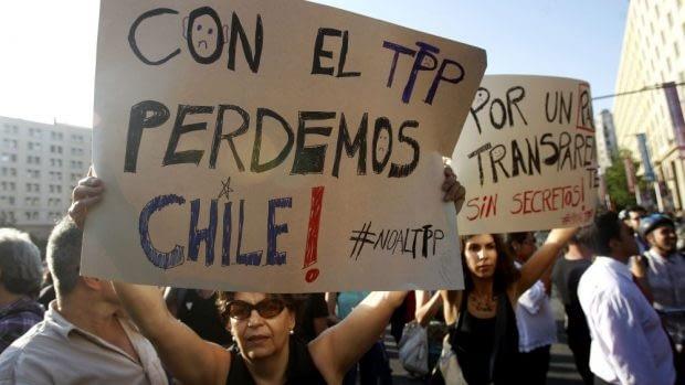 Diversas organizaciones sociales se han manifestado en contra el Acuerdo Traspacífico (TPP-11).