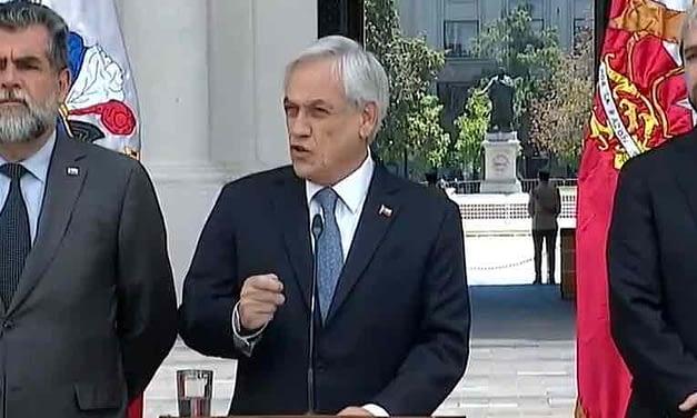"""Sebastián Piñera por jornada de protesta: """"El orden público fue sobrepasado"""""""