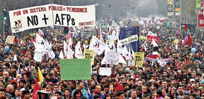 No+AFP agenda plebiscito nacional: modelo de reparto o capitalización individual